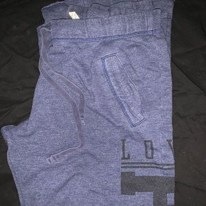 Bootcut navy blue Pink sweatpants